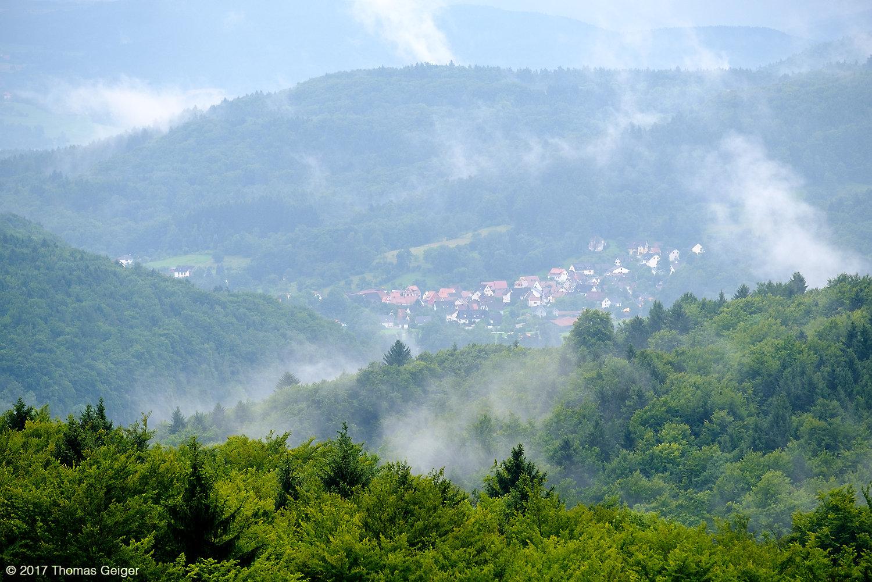 Blick ins Sittenbachtal auf Kirchensittenbach
